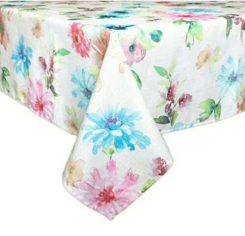 Bardwil Floral 60-Inch x Tablecloth Seats 8 New