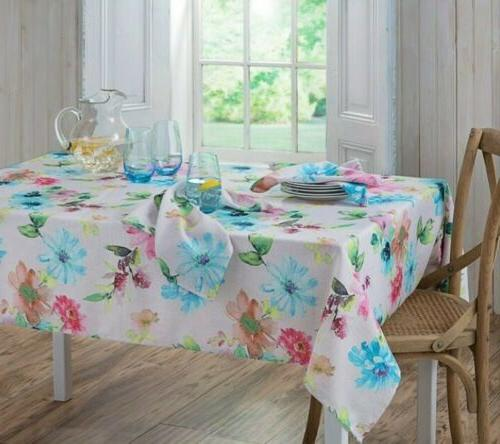 Bardwil Garden 60-Inch Oblong Tablecloth Seats