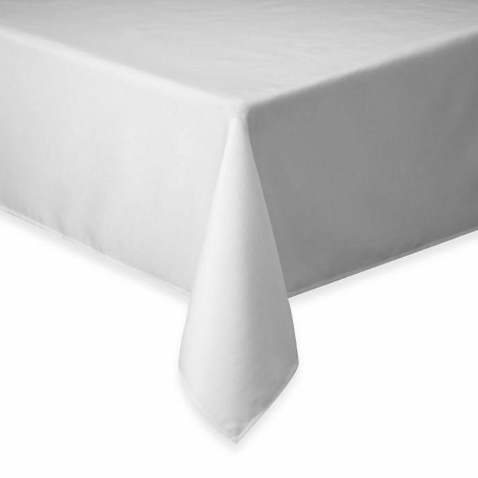 Basics Solid 60-Inch x 84-Inch Tablecloth in White