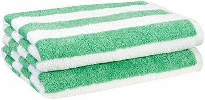 beach towel cabana stripe green pack of