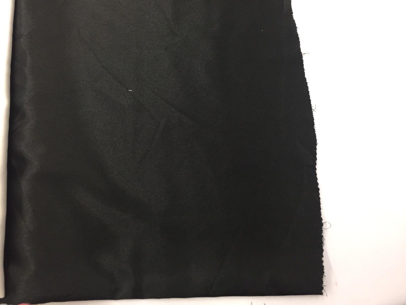 Black 60inch Stretch Charmeuse Soft Silky Satin-by The
