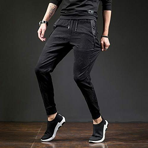 CNMUDONSI Black Cargo Men's Casual Pants