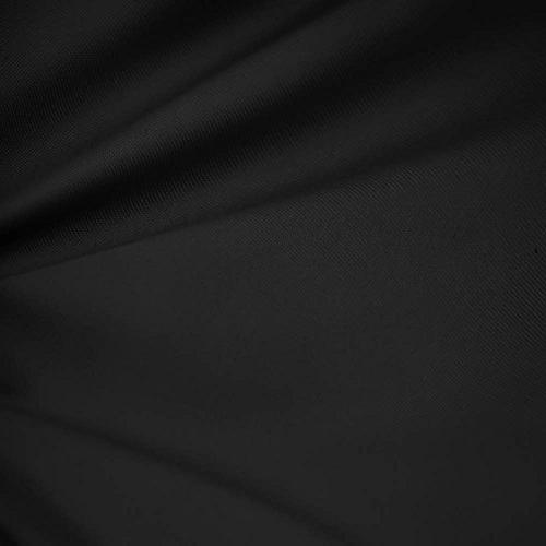 black wide cotton blend broadcloth