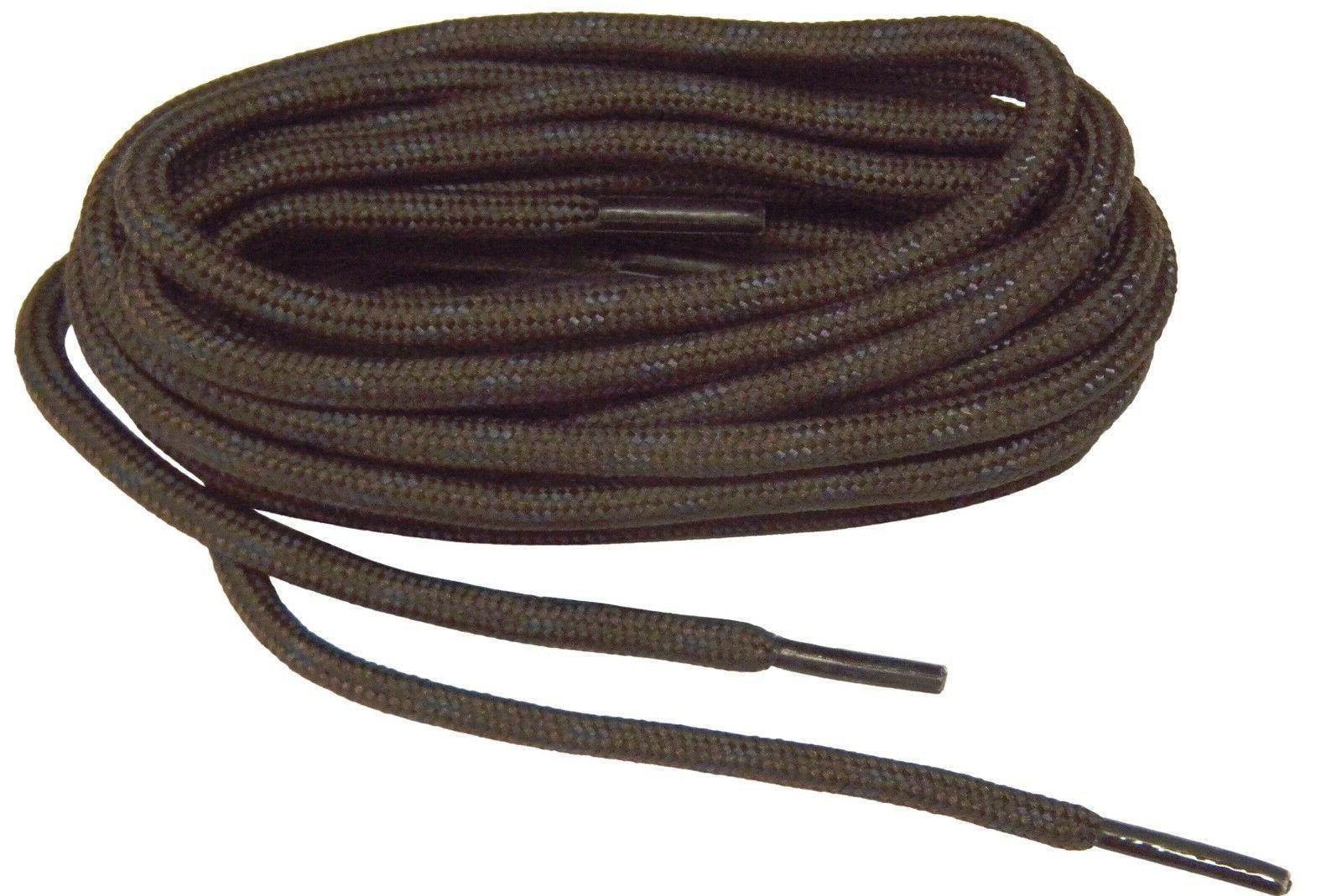 Brown w/Black Heavy Duty Kevlar reinforced boot laces shoela