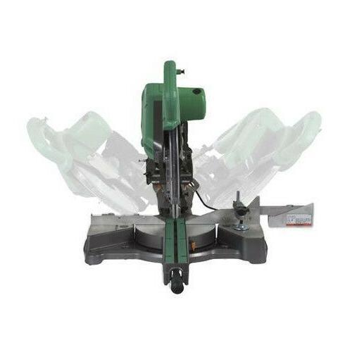 "Hitachi C10FSHPS 10"" Sliding Dual Compound Miter Saw with Laser"