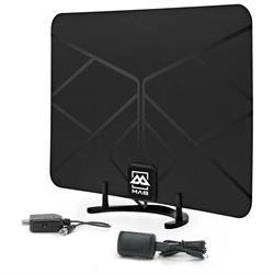 BAM Cables HDTV Leaf Amplified Indoor HD Antenna Digital TV