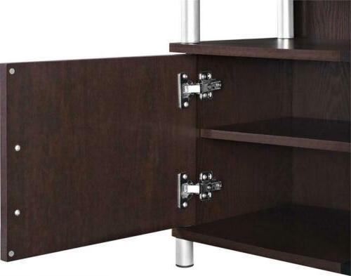 Ameriwood Home Carson TV Stand to Wide Cherry