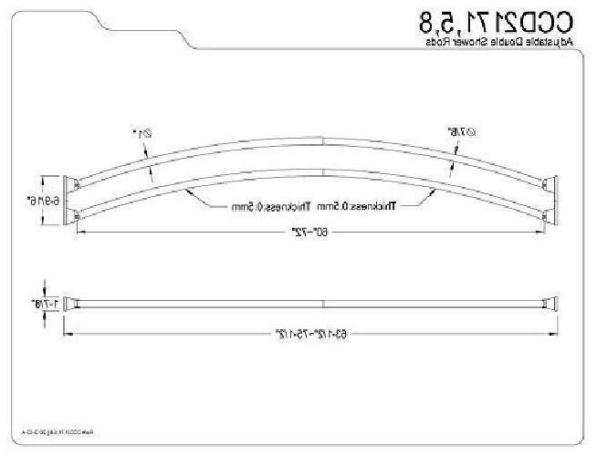 Kingston Brass 60-Inch-72-Inch Curved Steel