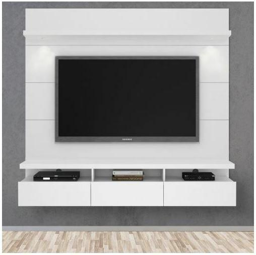 Entertainment Center Wall TV Stand White