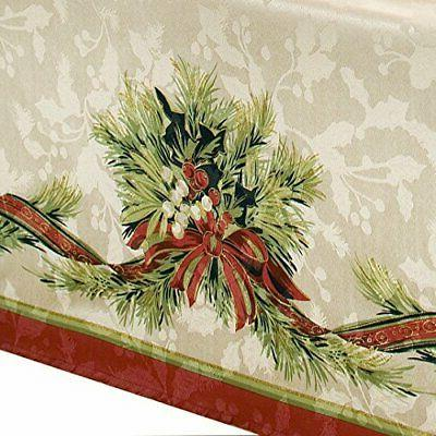 Benson Christmas Engineered Tablecloth,