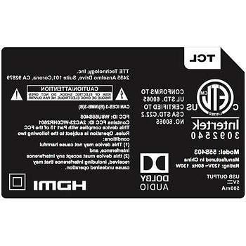 TCL 55 4K LED LCD TV