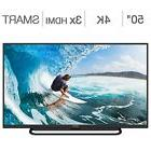 "Element 50"" Class  4K Ultra HD LED LCD TV  Wi-fi Ready With"