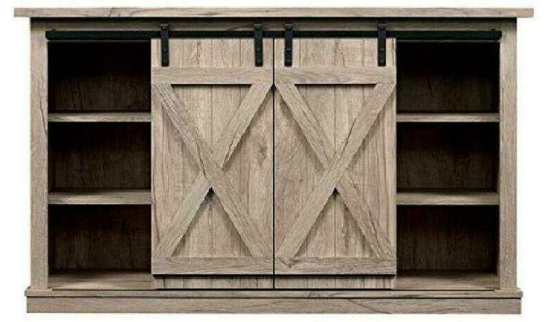 Comfort Wrangler Barn Door Stand, Ashland Pine