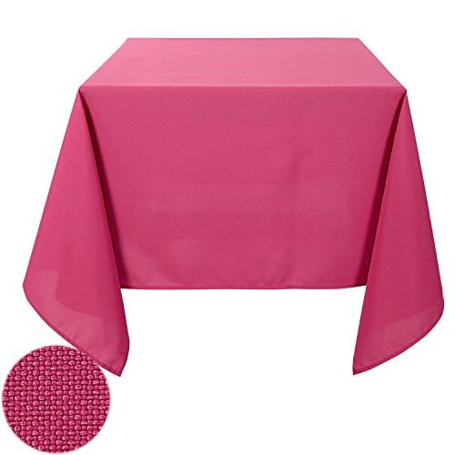 decorative wrinkle resistant square tablecloth