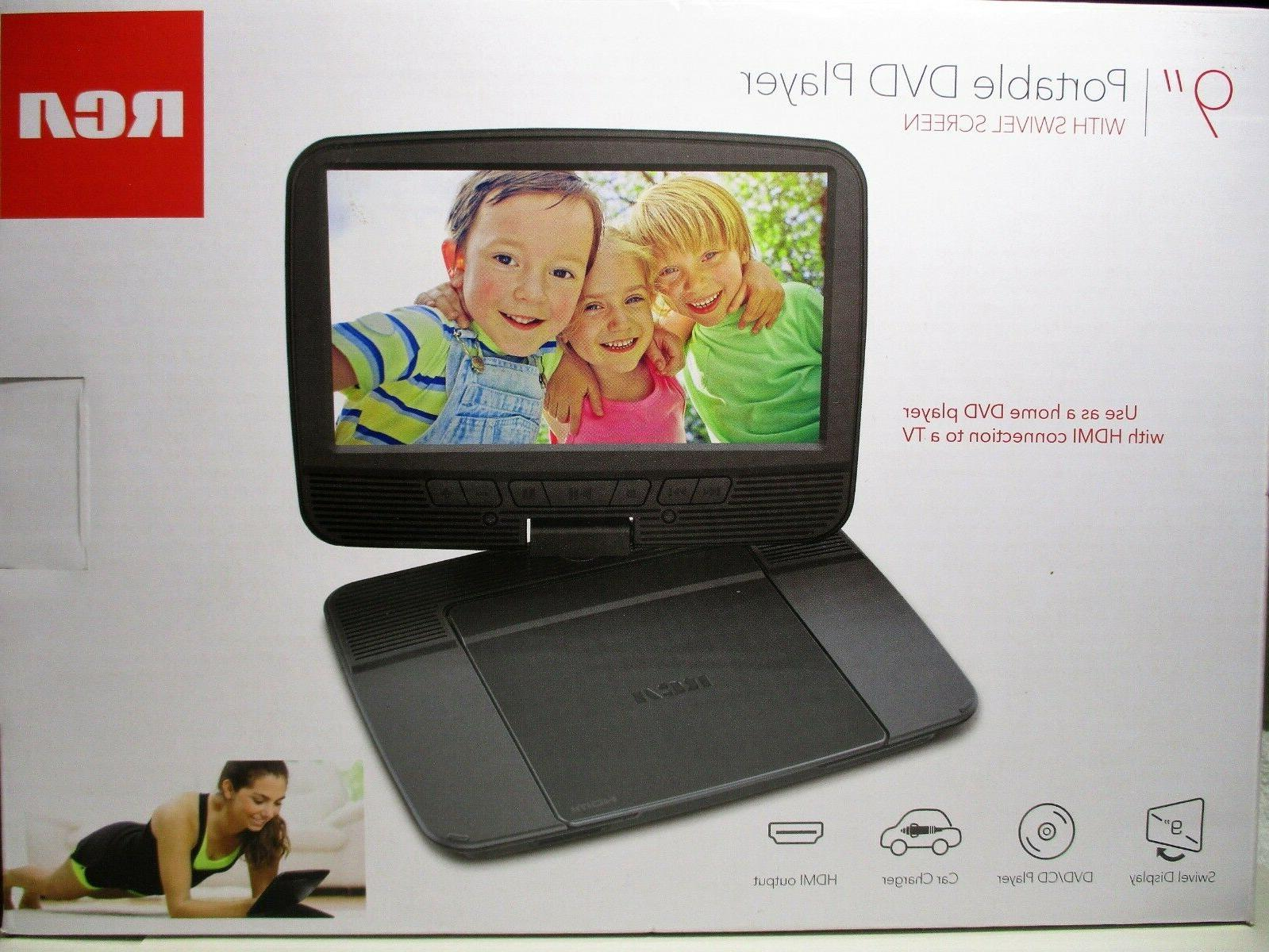 drc98090 portable dvd player with 9 swivel