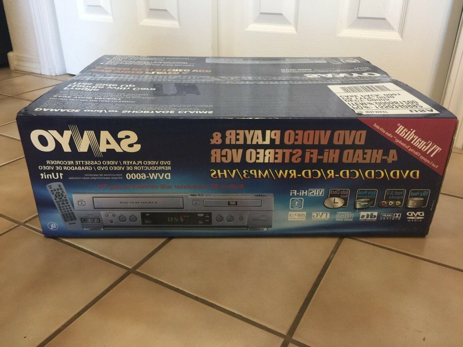 Sanyo VHS Combo Player VCR NEW