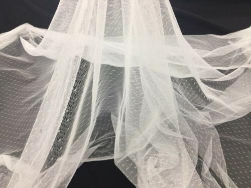 english netting for bridal veil fabric white