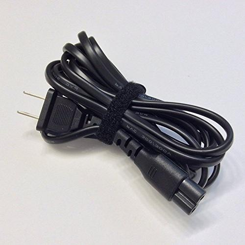 Ipax Black Extra Long Prong AC Adapter Cable