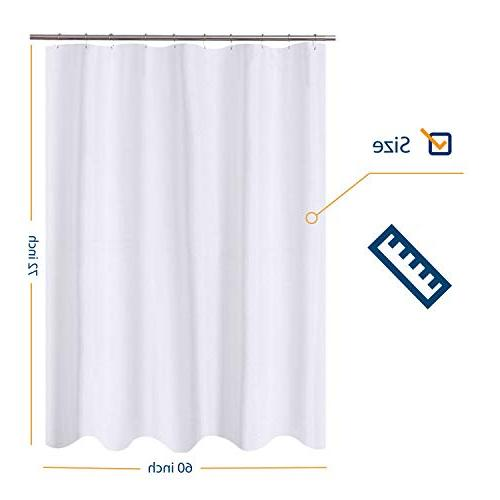 N&Y Curtain 60 x 72 Bath Quality, Mildew Resistant, Water Bathroom Curtains with