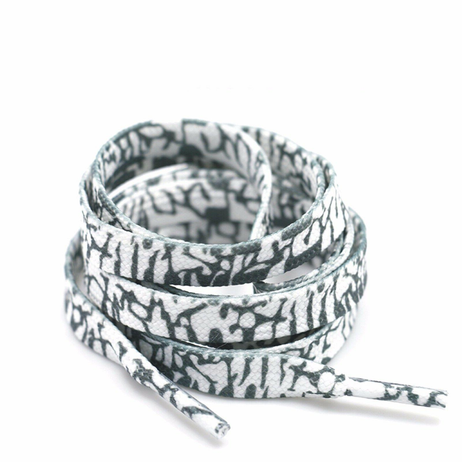Flat 32 40 60 Inch Shoelaces Sneaker Canvas Colorful