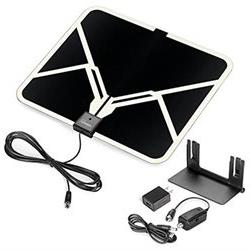 ViewTV Flat HD Digital Indoor Amplified TV Antenna - 65 Mile