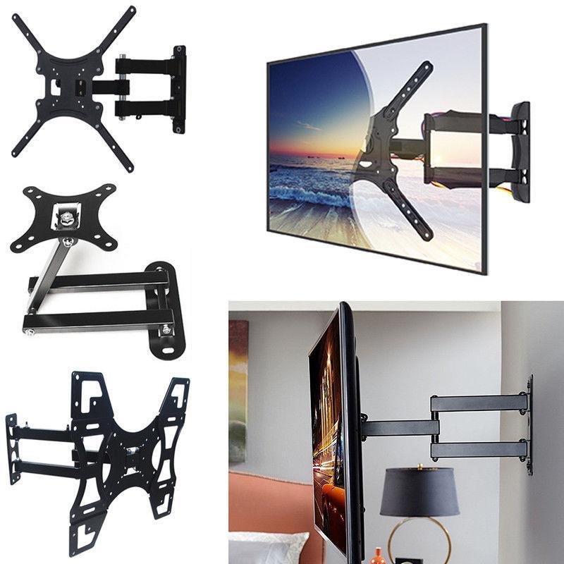 """Full Motion TV Wall Mount Bracket Tilt Swivel for 17-60"""" Inc"""