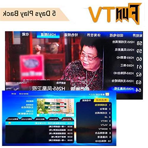 FunTV2 2019 Newest TV Box Cantonese Chinese TV