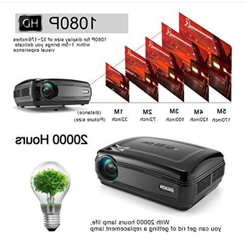 G58 Projector, Support Home Cinema Projector HD High Resolution Projector,Black