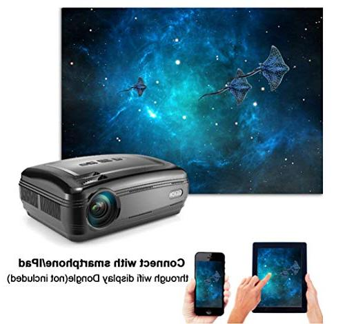 G58 Projector, Support Cinema Projector,Pico High Resolution Projector,Black