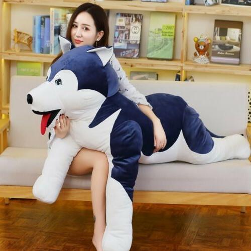 Giant Husky Sleeping Pillow Stuffed Animal Toy