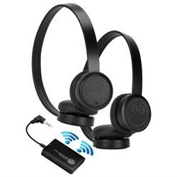 GOgroove Wireless Dual Headset Bluetooth TV Connection Kit w