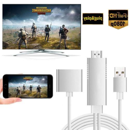 HDMI Mirroring Smart Cable HDTV AV Phone to TV Adapter For S