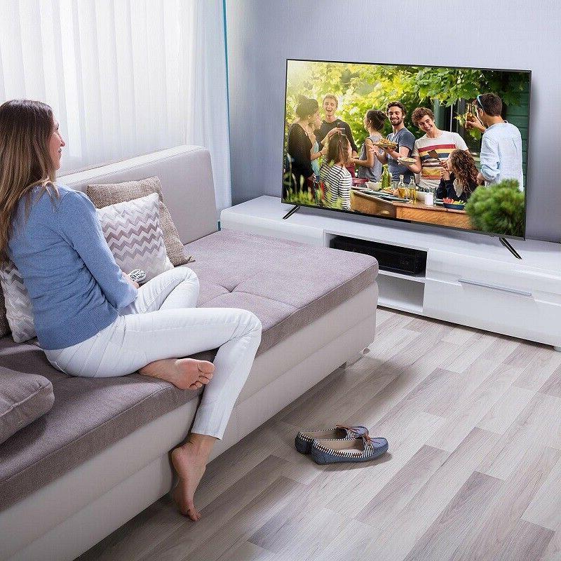 HDTV 50 Inch 4K Ultra HD TV Television JVC LED Built in Tuner Def