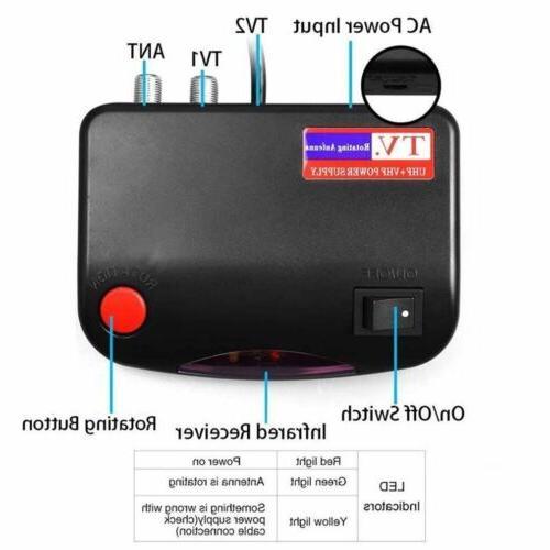 HDTV TV Antenna 150Mile 360 Rotation