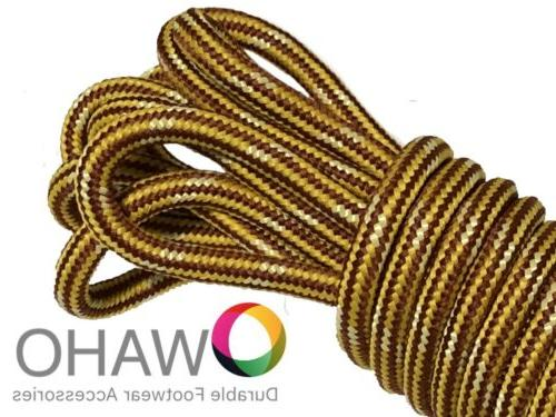Heavy Duty Brown/Gold Shoe / Boot Laces made with Natural Du
