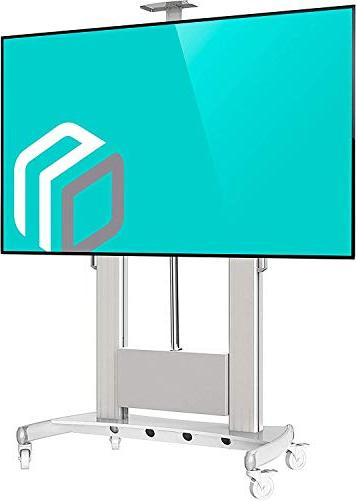 Universal Mobile TV TV with for - Inch LCD LED OLED Plasma Flat Screens up to Stand with Control TV Lift White