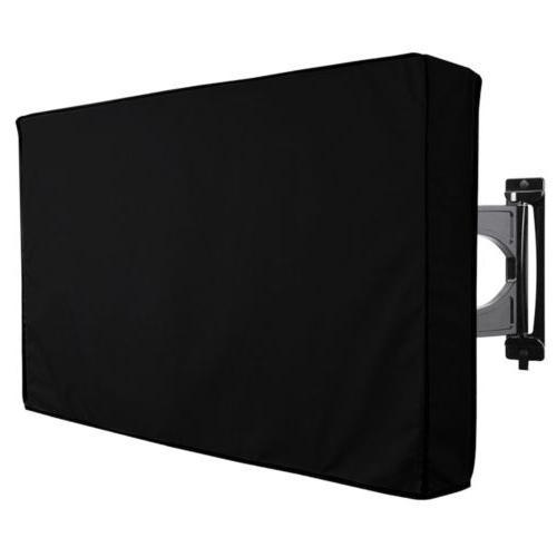 tv cover outdoor black weatherproof dust proof