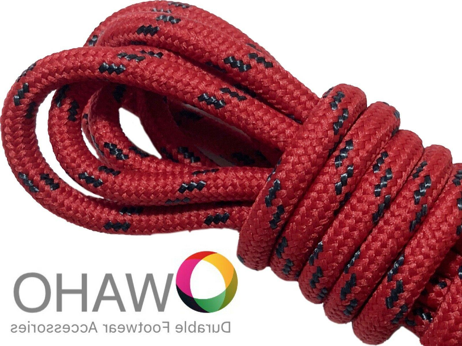 Heavy Duty Red Shoe / Boot Laces made with Black Dupont™ K