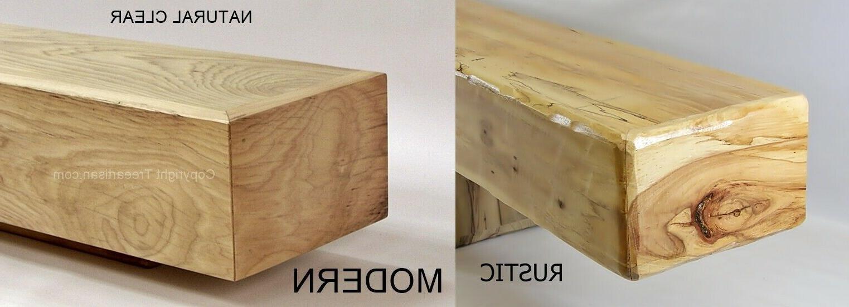 hickory fireplace mantel floating shelf beam rustic