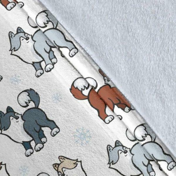 Husky Snow Blanket Malamute Dog Pets Shipping