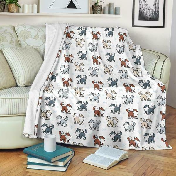 Husky Snow Premium Blanket Malamute Pets Soft Washable Shipping