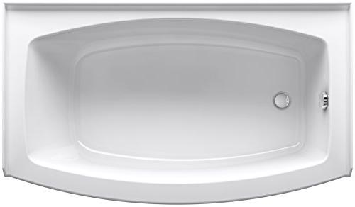 KOHLER x Curved Alcove Bath with Integral Apron, and Drain,