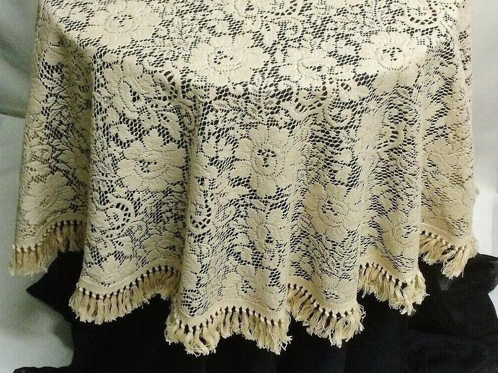 Lace Round or Napkins Organic Cotton Victorian