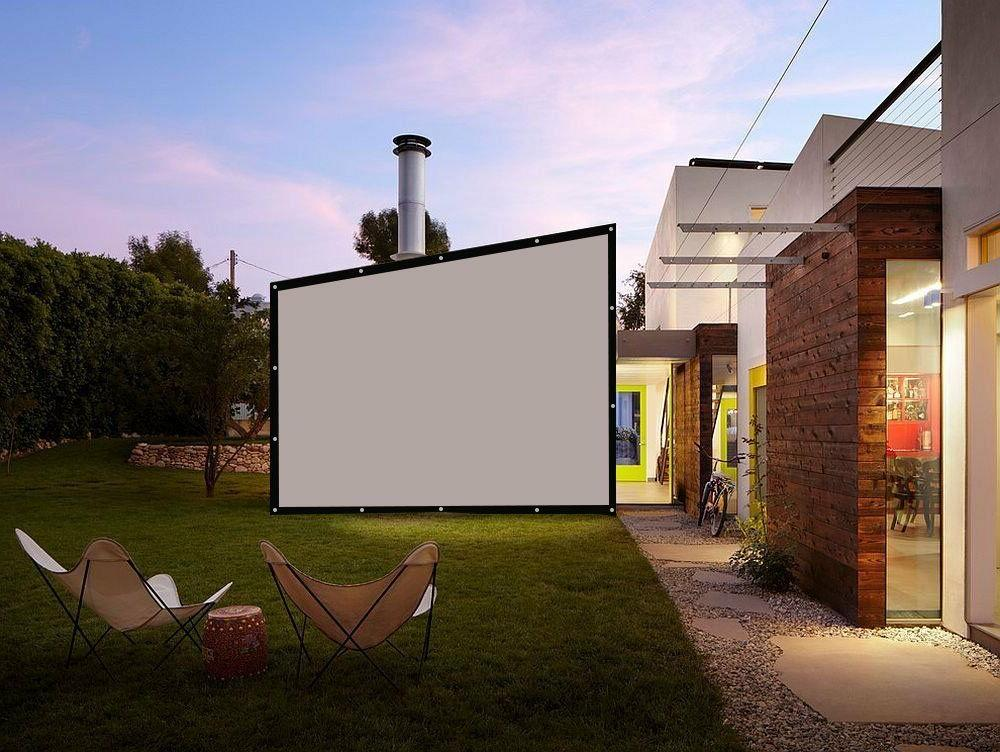 Large Projector Screen Outdoor Home Screen
