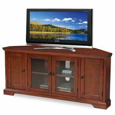 Westwood Corner TV Stand, 60-Inch, Cherry Hardwood