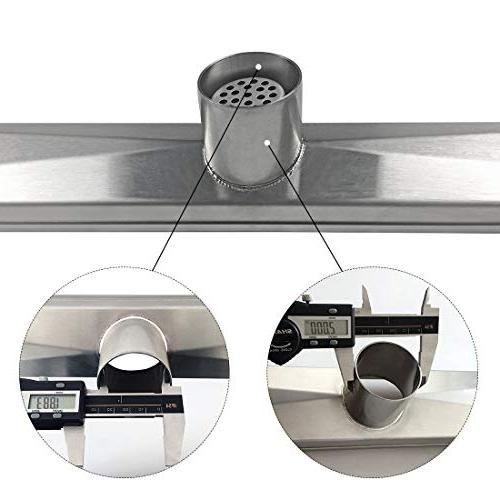 Drain with Tile Grate,Professional 304 Drain With Leveling Hair Strainer