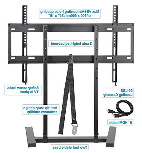 TV Stand with 3 Height adjustments Strap Height fits for Inches Mount VESA to 600x400mm, MD5108