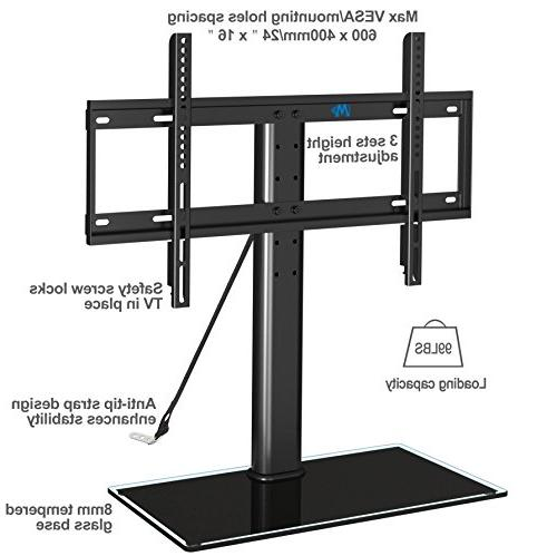 Mounting top TV anti-tip height glass base most of Inches Plasma, LCD TVs 600x400mm