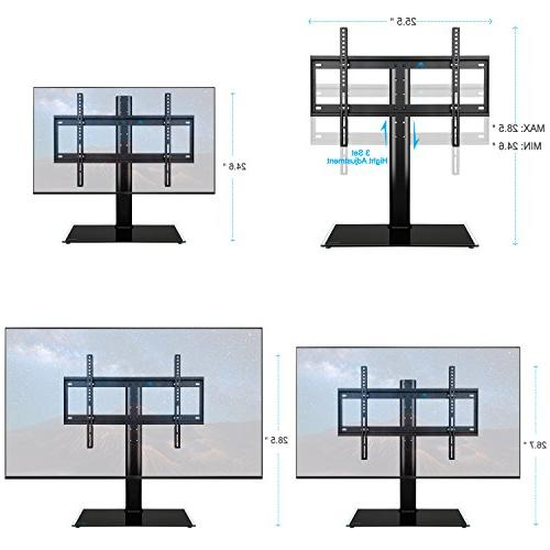 Mounting Dream MD5109 table top anti-tip 3 height adjustment glass base most of 42-60 Inches Plasma, and TVs 600x400mm