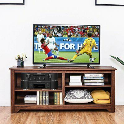 Medium Wood TV Stand Entertainment Center for up